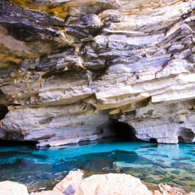 La découverte des grottes