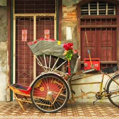 Rickshaw dans les rues de Penang