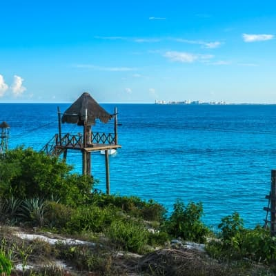 Découverte d'Isla Mujeres en catamaran