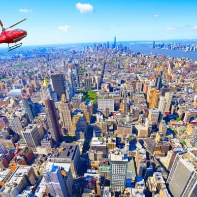 Tour en hélicoptère au dessus de Manhattan (réservable par nos soins)