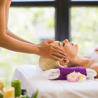 Massage dans un institut