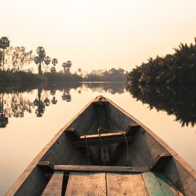 Sur la rivière de Kampot