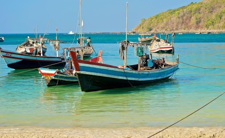 Sur la plage de Ngapali….