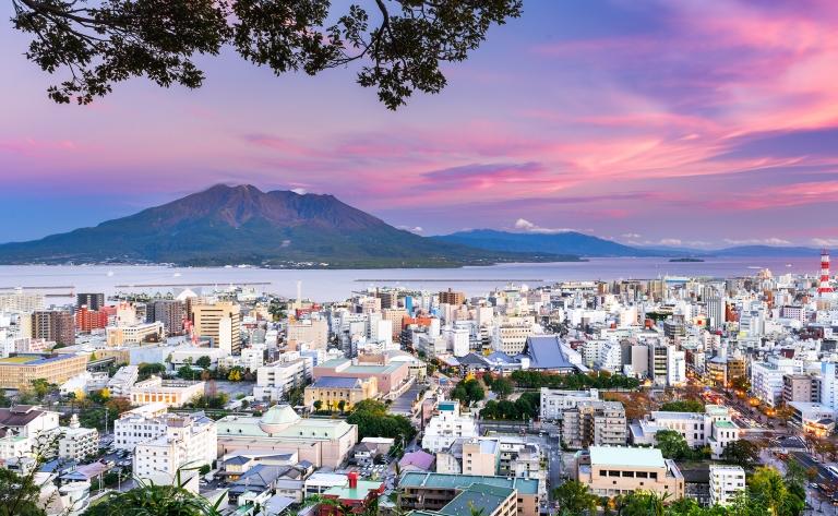 Kagoshima & son volcan
