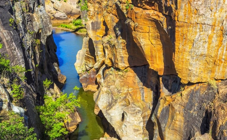 Paysages incroyables du Blyde River Canyon