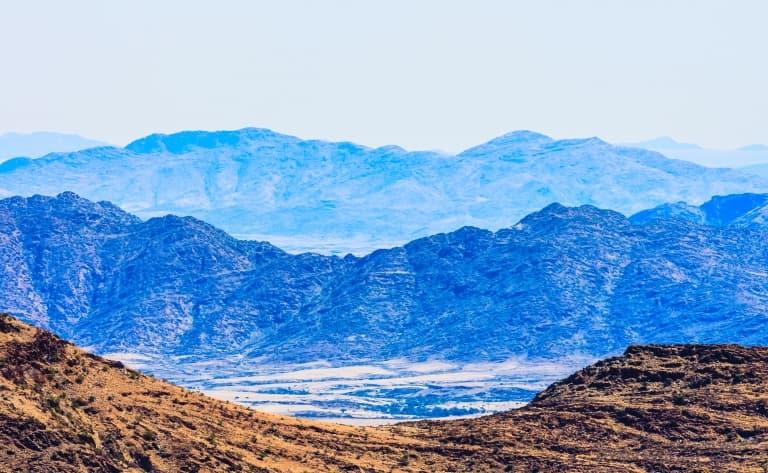Panorama sur les montagnes du Gamsberg (220 km)