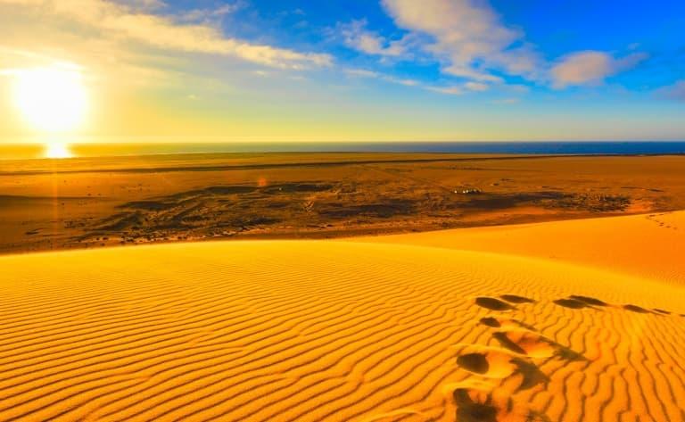 Beauté sauvage du désert du Namib. 300km.