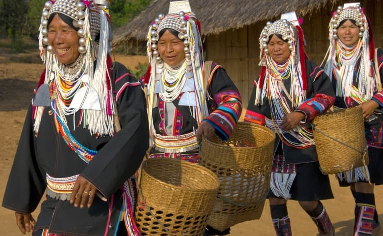 Randonnée jusqu'aux villages des ethnies Akha et Ann