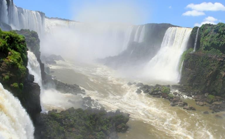 Les chutes du coté argentin