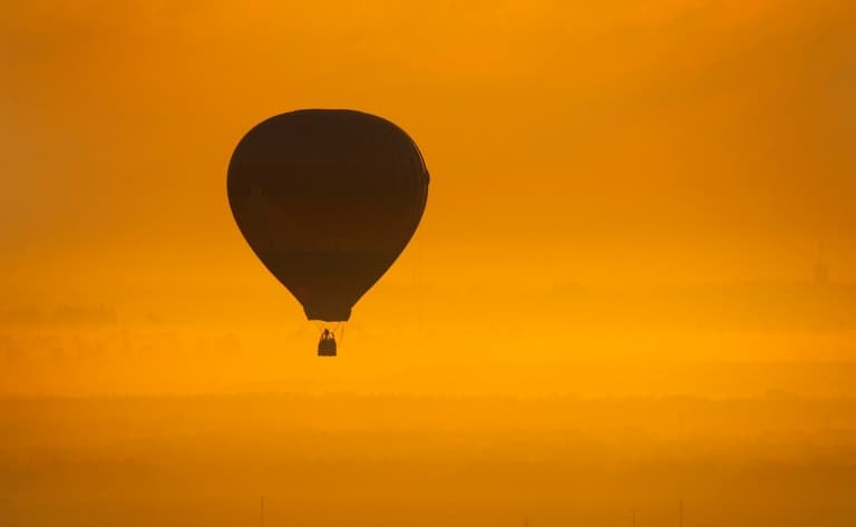 Survol de Québec en montgolfière