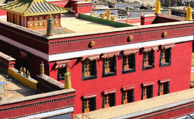 Visite du monastère de Sakya