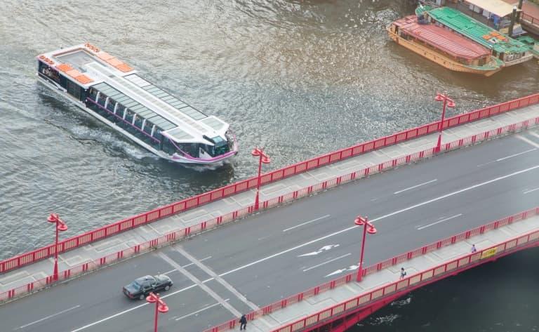 Croisière sur le fleuve Sumida à Tokyo