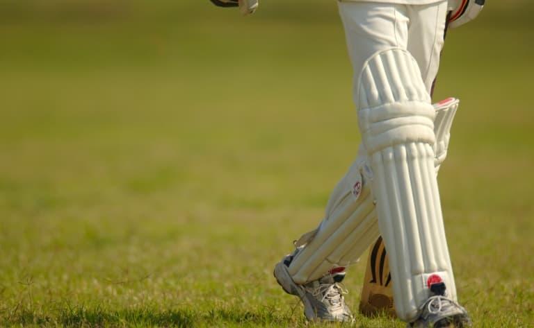 Match de cricket dans un village