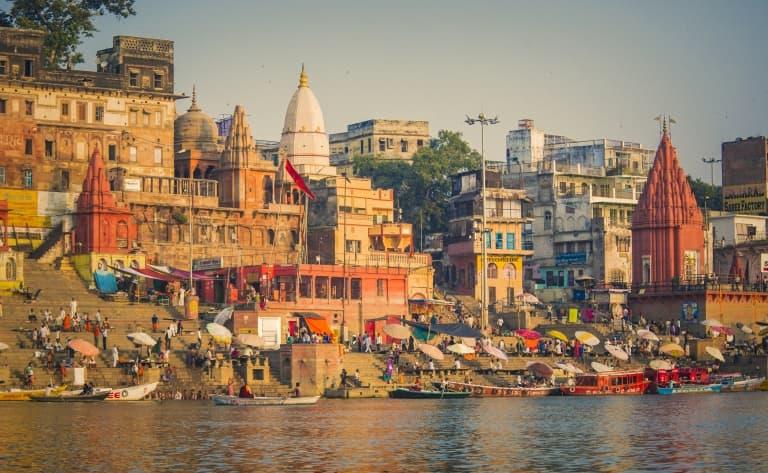 Promenade en bateau sur le Gange