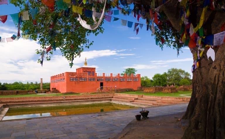 Visite de Lumbini, lieu de naissance de Bouddha