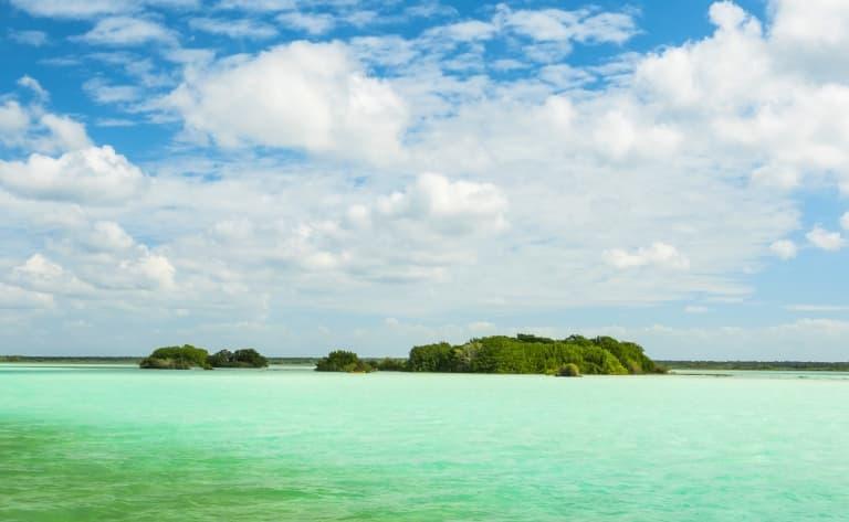 La côte sauvage de Laguna Bacalar !