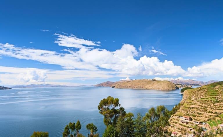 A l'horizon, le lac Titicaca !