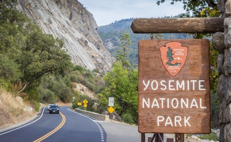 Route vers Yosemite National Park