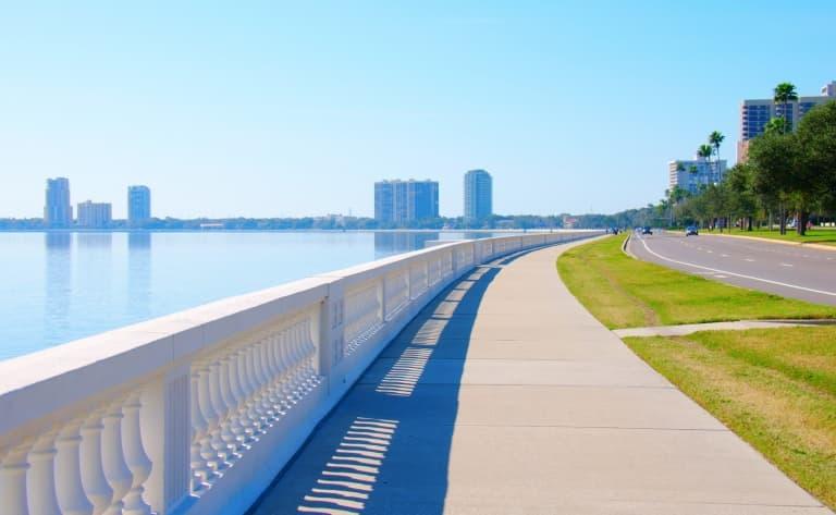 Le nord-est de la Floride (200km)